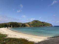 久部良のビーチ。 この時お天気がよくて、2日間で一番きれいに見えたのがここ。