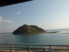 快晴で車窓の景色も最高でした。 亀島がよく見えます。 ここも良さそうなのできてみたいなぁ。