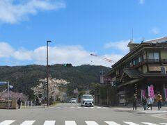 道端に立っている建物そのものが  趣のある京都   いいですねえ   岡崎茶寮 豆狸