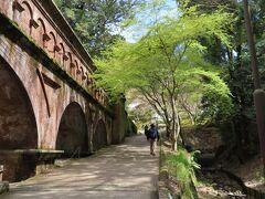 全長93.2メートル(幅4メートル、高9メートル)   レンガ 花崗岩造り  アーチ型橋脚の風格ある構造物  *京都市公式ホームページより