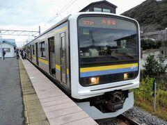 16:32 @浜金谷駅  内房線に揺られて1時間弱、浜金谷駅に到着。流石に疲れもたまってきて爆睡でした・・・