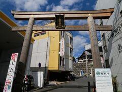 5分も歩くと大きな鳥居があります。 こちらが水戸東照宮。