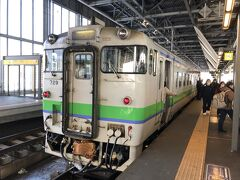 名寄で乗り換えたキハ40系で旭川に到着。 いつまでも頑張ってくれよって思わず声を掛けてしまう。