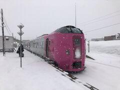 稚内まで乗って行きたいけど、今日の目的地はコチラなので途中下車。 雪の中でも映えるね~