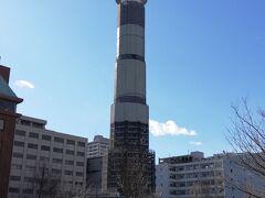 改装中のマリンタワーです。