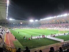 スタジアムに到着。今まではゴール裏に座れましたが、今は