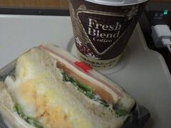 移動中の新幹線での朝食