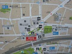 川口駅の東口周辺の案内図です。  多くの建物が、集中しています。  そごう川口店が、目に入ります。