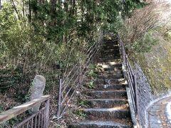 「七曲り」をショートカットする階段。橿木坂。 箱根八里の中で、特に旅人を苦しめたところだそうです。