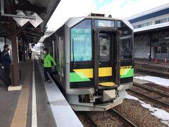 09:20  倶知安到着。定時。  朝飯がまだなので、駅そばが無くなったのがちとつらい。