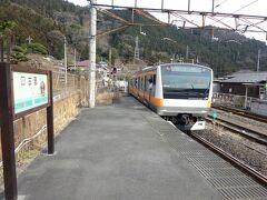 1駅青梅方向に戻って、古里(こり)駅で下車。 奥多摩町内の途中駅、これでコンプリートです。