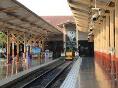 チェンマイ駅の終着。線路はここまで