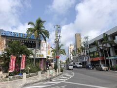 石垣島中心部の730交差点。