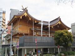 茶ノ木神社から徒歩で3分ほどで水天宮に到着です。 ここは日本橋蛎殻町です。