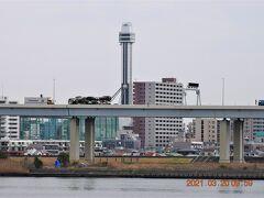 以前昇ったタワーホール舟堀が対岸に見えました。 https://www.towerhall.jp/