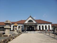 琴平駅まで戻ってきました。 なんか可愛い駅舎ですね。