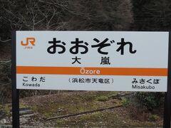 11:11 @大嵐駅(静岡県浜松市天竜区)  大嵐駅に停車。「おおぞれ」駅です。  初見だと絶対に「おおあらし」と呼んでしまいますね...