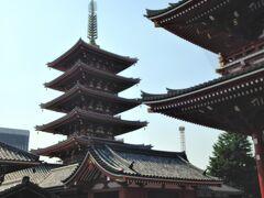 宝蔵門前からの五重塔。