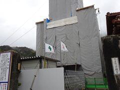 津和野カトリック教会は改修中。 工事してない日曜等は内部が見学できます。  津和野には何度も来てるのに、なぜか中を見学した記憶がありません。