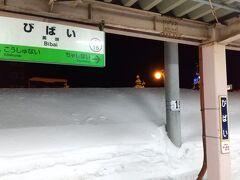 飛行機から電車に乗り換えます。全然関係ない駅でパシャリ・・・。すごい雪!!!
