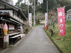 梅祭り期間ではあるが、見頃を過ぎたということで休業している店舗が多い。