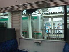 国見で上り列車と交換。