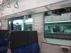 仙台からちょうど1時間で山寺。 コロナの影響で観光客は少ない。結局、終点まで向かいのボックスは誰も座らなかった(うちらがいるからではないと信じたい)