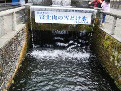 富士山の雪解け水