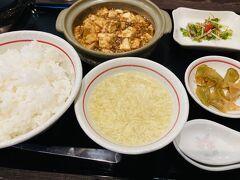 頑張ったご褒美に、シェイシェイさんの麻婆豆腐定食。ほんと美味いんだ。理想的な味、辛味。スープや付け合わせも気を抜くことなく旨い。