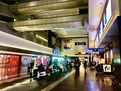 さて、日曜日の朝の羽田空港です。
