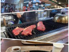 明日からのガンガンダイビングに備え 「肉食べよ!」  これで明日から頑張れる! きっと。。。