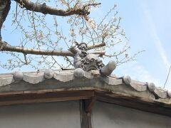 <知多市・岡田> 松田歯科の土塀の屋根の福瓦。