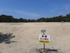 琴弾公園の中に銭形砂絵はあります。  平面で見ると、大きすぎてよく分からないです(笑)