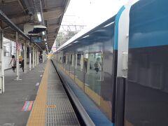 てなことで、東京駅から1時間45分伊東駅到着。