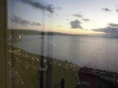 夕景の宍道湖。実に絵になる光景です。