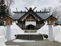さらに南下し、隣の和寒町へ。 和寒神社にやってきました。