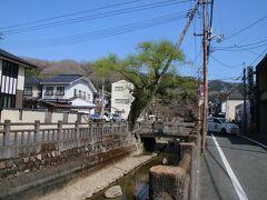 アスファルト舗装、電柱など生活感あふれる感じもありますが、結構な樹齢の木も残っていて紺屋川の石垣も含め往時の雰囲気も残していました。