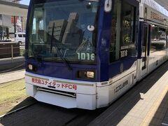 天気が良いので、このまま桜島を目指すことに。12時過ぎの鹿児島市電に乗車し、桜島桟橋最寄の停留所まで。