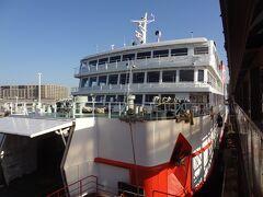 これから乗船する、東京湾フェリー/かなや丸です。 愛媛県新浜造船所で建造され、平成4年4月.3代目かなや丸として、久里浜-金谷航路に就航しました。  ④東京湾フェリー:かなや丸.金谷行 久里浜.7:20~金谷.8:00