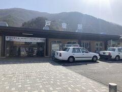 戸倉駅には、何台かタクシーが止まっていました。戸倉駅から2000円弱で城址公園に着きました。