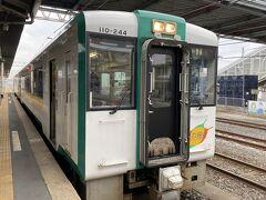 小牛田駅からは陸羽東線・新庄行の9:07発のキハ110形ディーゼル列車に乗り、鳴子温泉郷に向かいます。