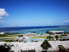 伊江島が見えます。