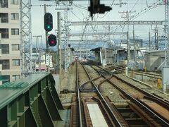 西鉄久留米を出ると次の西鉄二日市駅までしばらく停まらない。 甘木線が分岐する宮の陣駅を通過。