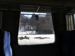 北上線内は積雪が。
