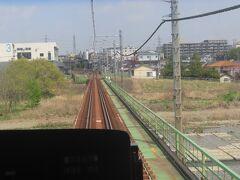 八王子駅から北八王子駅の間の風景、浅川の鉄橋