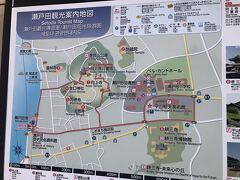 生口島内中心部地図。