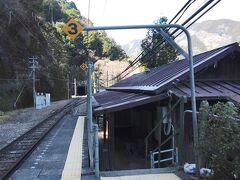 電車が去ったホームには、私たちだけ。  もう一人降りた人がいた気がするが、その人はどこに行ってしまったのか?  駅舎に向かうと、トンネルの中に光るものが・・