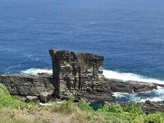 自然が作り上げた芸術品①の軍艦岩です.