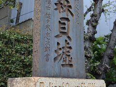 毎年、春にはこの碑が大井水神公園の桜並木を見守っています(終)