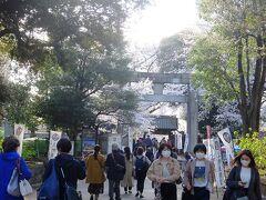 上野東照宮大石鳥居. 上野東照宮は初めてではないですが,立ち寄ることにしました.人出多数でした.